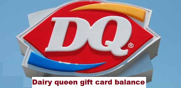 Dairy queen gift card balance process