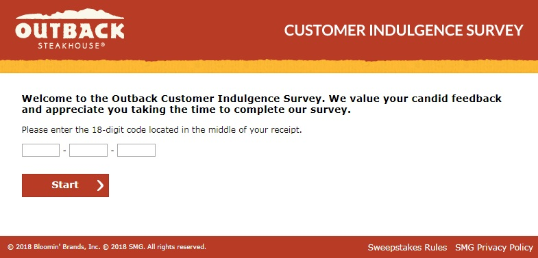 Tell outback customer survey